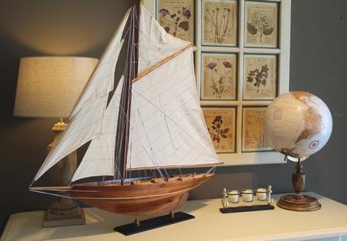 Decoración náutica, maquetas de barcos y productos navales